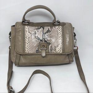 Rebecca Minkoff Snake trim leather messenger bag